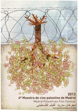 Cartel de la IV edición de la Muestra de Cine Palestino de Madrid 2013